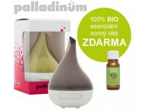 Ultrasonický aroma difuzér Palladinum ŠEDÝ + 100% BIO esenciální vonný olej ZDARMA