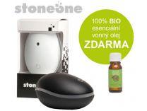 Ultrasonický aroma difuzér Stoneone ČERNÝ + 100% BIO esenciální vonný olej ZDARMA