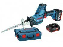 Aku pila ocaska Bosch GSA 18 V-LI C Professional - 2x 18V/5.0Ah, 2.5kg, kufr L-BOXX