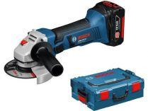 Bosch GWS 18-125V-LI Professional - 2x 18V/5.0Ah, 125mm, 2.3kg, kufr L-BOXX, aku úhlová bruska