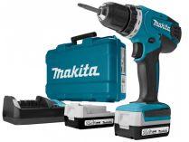 Makita DF347DWE - 2x 14.4V/1.3Ah 30Nm, 2 rychl., 1.4kg, kufr, aku vrtačka bez příklepu