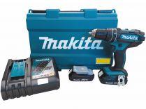 Makita DHP482RAE - 2x 18V/2.0Ah, 62Nm, 2 rychl., 1.5kg, kufr, aku vrtačka s příklepem