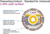 Univerzální diamantový kotouč Bosch Standard for Universal 125mm, 10mm, 22.23mm NEW high SPEED, kód 2608615059 Bosch příslušenství