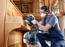 Bosch Best for Wood and Paint - brusná mřížka 150mm, zrnitost P120, M 480 Net, 1ks, do excentrické brusky na jemné broušení pryskyřice, dřeva, barev a omítek atd. (kód 2608621173) Bosch příslušenství