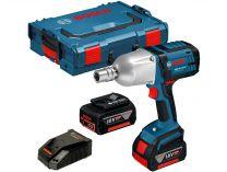 Bosch GDS 18 V-LI HT Professional - 2x 18V/5.0Ah, 650Nm, 3kg, kufr L-BOXX, aku rázový utahovák