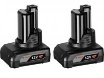2x Akumulátor Bosch GBA 12 V 6.0 Ah Professional - 12V/6.0Ah, 2ks
