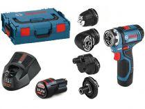 Bosch GSR 12V-15 FC Set Professional - 2x 12V/2.0Ah, 30Nm, kufr, příslušenství, aku vrtačka bez příkl.