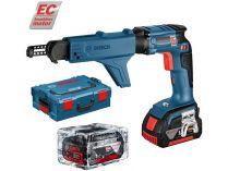 Bosch GSR 18 V-EC TE + MA 55 Professional - 2x 18V/5.0Ah, kufr L-BOXX, aku šroubovák se zásobníkem