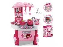 Dětská kuchyňka G21 Malá kuchařka s příslušenstvím - růžová