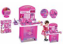 Dětská kuchyňka G21 Superior s příslušenstvím - růžová