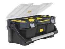 "Kufr na nářadí STANLEY 1-97-514, plastikový box s organizérem 24"" - 67.0x32.3x25.1cm"
