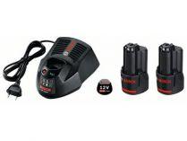 Startovací sada Bosch Professional 2× GBA 12 V 3,0 Ah + GAL 1230 CV