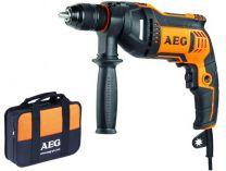 Příklepová vrtačka AEG BE 705RE - 750W, 13mm, 1.9kg, taška