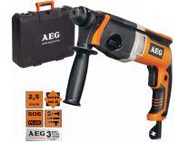 Vrtací kladivo AEG KH 26 E - 800W, 2.5J, 2.6kg, kufr, pneumatické kladivo SDS-Plus