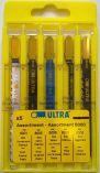 Zobrazit detail - 5-dílná sada pilových plátků ULTRA 8050 mix - dřevo / kov / plast, pilové plátky do kmitací pily