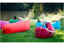 Nafukovací vak G21 Lazy Bag Pink - 1.3kg, nosnost 200kg, 80x60x200cm/72x250cm, složený: 35.5x24x11.5cm (635342)