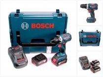Bosch GSR 18 V-EC Professional - 2x 18V/5.0Ah, 60Nm, 1.7kg, kufr, bezuhl. aku vrtačka bez příklepu