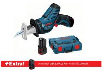 Bosch GSA 12V-14 Professional - 2x 12V/2.5Ah + extra 1x aku 12V/2.0Ah, 65mm, L-BOXX, aku pila ocaska