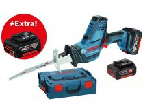 Aku pila ocaska Bosch GSA 18 V-LI C Professional - 2x 18V/5.0Ah + extra 1x Aku, 2.5kg, kufr L-BOXX