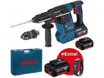 Bosch GBH 18V-26 F Professional, 2.6J, 2x aku 18V/6.0Ah + Aku 5,0Ah + extra fitness náramek + kufr