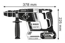Bosch GBH 18V-26 F Professional bezuhlíkové kombinované aku kladivo s výměnným sklíčidlem - 2x aku 18V/6.0Ah, 2.6J, 3.6kg, v kufru (0611910003) Bosch PROFI