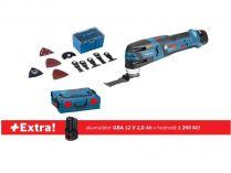 Bezuhl. aku multifunkční nářadí Bosch GOP 12V-28 Professional - 2x12V/2.5Ah + extra 1x aku 12V/2.0Ah