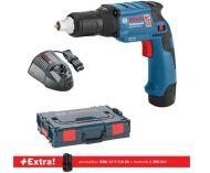 Bosch GTB 12V-11 Professional - 2x 12V/2.5Ah + extra 1x aku 12V/2.0Ah, kufr L-BOXX