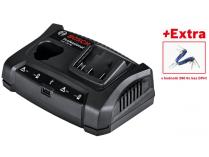 Bosch GAX 18V-30 Professional - pro aku 10.8V až 18V, Lithium-iontová rychlonabíječka s USB + dárek