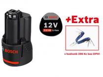 Akumulátor Bosch GBA 12V 3.0Ah Professional - 12V/3.0Ah, 0.18kg + dárek