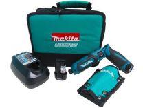 Makita TD022DSE - 2x 7.2V/1.5Ah Li-Ion, 22Nm, 0.56kg, taška, úhlový aku utahovák