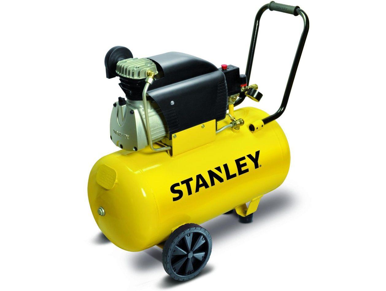Olejový kompresor STANLEY D210/8/50S samomazný pístový kompresor - 1.5kW, 8bar, 222l/min, 50l, 34kg (D210_8_50S)