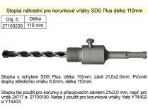 Upínací stopka Magg SDS-Plus 110mm se středícím vrtákem 6,5mm pro vrtací korunky pr. 100mm