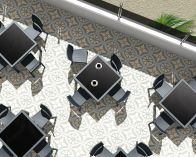 Zahradní stůl BALI - SIESTA EXCLUSIVE - hnědý - 94x74x94cm, 22kg, PP plast/skelné vlákno (441221) Siesta (Hanscraft)