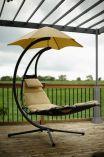 Závěsné houpací lehátko Vivere Original Dream Chair - pískové, 188x76cm, nos.:120kg, ocelová konstrukce, 39kg (421110)