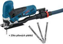 Přímočará pila Bosch GST 90 E Professional - 650W, 2.3kg, kufr + 25ks pilových plátků