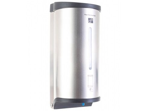 Automatický dávkovač mýdla G21 River, Stainless Steel, 6xAA baterie (1,5 V), 800ml, 1.2kg, 12x27x11cm (635365)