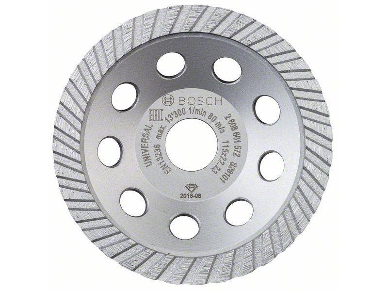 Diamantový brusný hrnec Bosch Standard for Universal Turbo - pr. 115x22.23/5.0mm, 1-řadý segment (2608601572) Bosch příslušenství