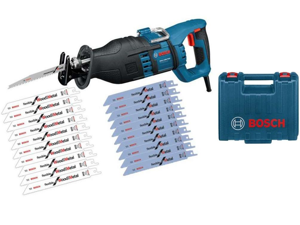 Elektrická pila ocaska Bosch GSA 1300 PCE Professional - 1300W, 4.1kg, 20ks pilových plátků, v kufru (0615990EC6) Bosch PROFI