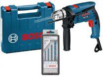 Příklepová vrtačka Bosch GSB 13 RE Professional - 600W, 10.8Nm, 0-44.800úd./min, sada vrtáků, kufr