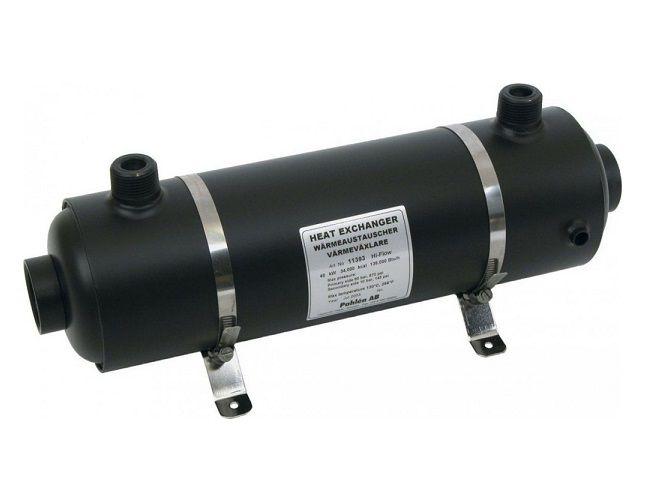 Tepelný výměník PAHLÉN Hi-Flow 40 kW - HF 40 - pro ohřev vody v bazénu a vířivce, 4.4kg (301322) Hanscraft