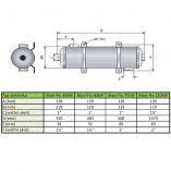 Tepelný výměník Maxi-FLO 40 kW - MF 135 - celonerezový, pro ohřev vody v bazénu a vířivce, 3.8kg (301340) Hanscraft