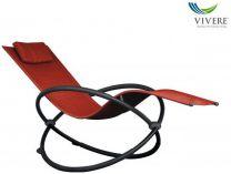 Zahradní houpací postel Vivere Orbital Lounger Single - Cherry Red, 60x30x36cm, nos.:120kg, ocel. konstrukce (421413)
