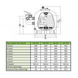 Písková filtrace do bazénů HANSCRAFT SIDE MASTER 450 - 7.80m3/h, boční filtrační nádoba, písek 45kg, 0.16m2, 10kg (304050)
