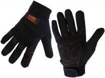Pracovní rukavice Lobster - Black, nylon / kůže, vel. L
