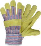 Pracovní rukavice TERN ČERVA textil / kůže, vel.10