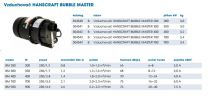 Vzduchovač do bazénů HANSCRAFT BUBBLE MASTER 900 - 900W, 2.2-2.5m3/min, 20-40 trysek, proud 230/4.5V, 7.5A, 76db(A), 3.4kg (304544)