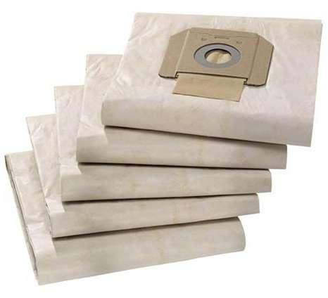 Třívrstvé papírové filtrační sáčky - pytle Kärcher 6.904-285.0 do vysavače NT 65/2 Ap, NT 65/2 Tact², NT 65/2 Tact² Tc, NT 70/2, NT 70/2 Me, NT 70/3, NT 70/3 Me Tc, NT 75/2 Ap Me Tc, NT 75/2 Tact² Me, NT 75/2 Tact² Me Tc, NT 80/1 B1 M