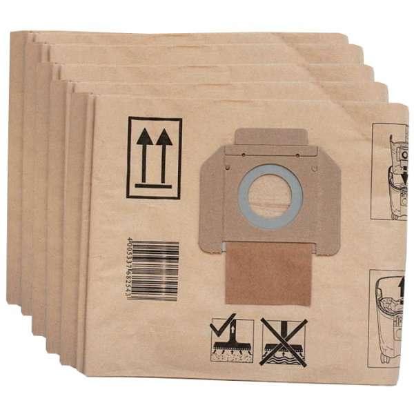 Papírové sáčky - náhradní alternativní pytle Protool do vysavače Makita 446L, 446LX, Protool VCP 260, VCP 260 E-L, VCP 260 E-M - 5ks