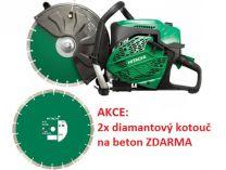 Hitachi CM75EBP - 3900W, 355mm, 10.6kg, rozbrušovačka + 2x diamantový kotouč