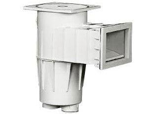 """Bazénový Skimmer standardní pro beton, 5 000l/h, regulace plovoucí jednotkou ⌀ 50mm a 1.1/2"""", bílý ABS plast, 3kg (308201) Hanscraft"""